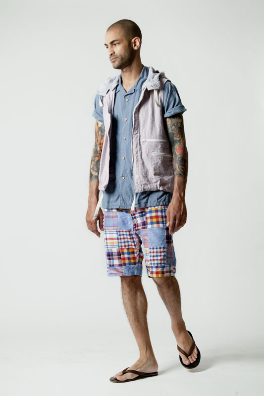 Engineered Garments - These shorts are hemmed at a conservative length and fit just as one would expect mens shorts to fit - but the choice of print makes them undeniably a statement piece.