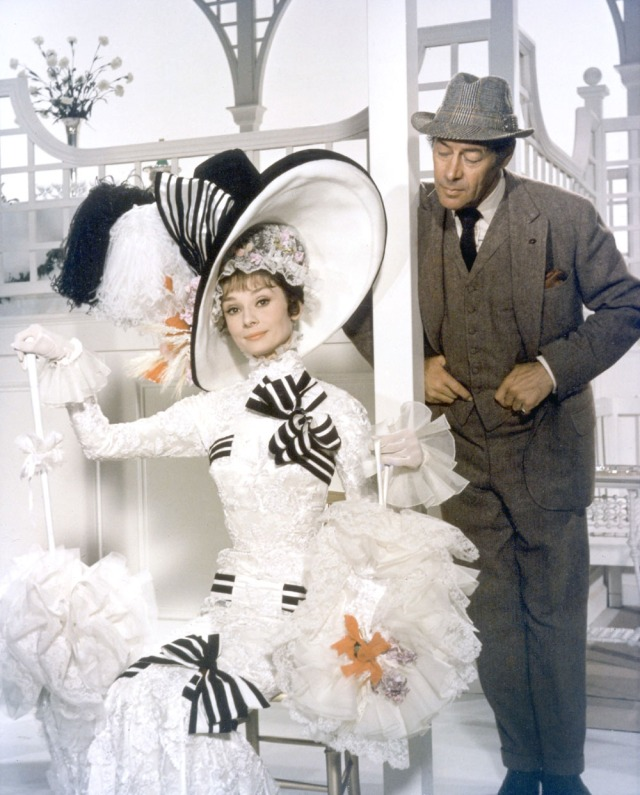 Audrey Hepburn and Rex Harrison as they appear in MY FAIR LADY, 1964.