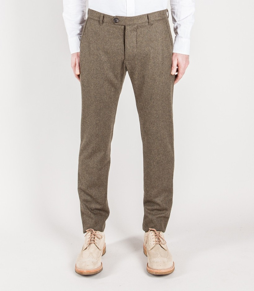 Wool chinos from Wings and Horns - a similar fabric choice as the Edwardian trouser sample but unarguably modern.