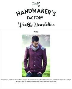 handmakers factory newsletter