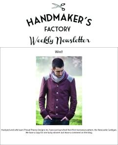 handmakers factory newsletter