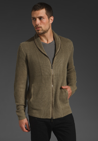 zipper shawl collar