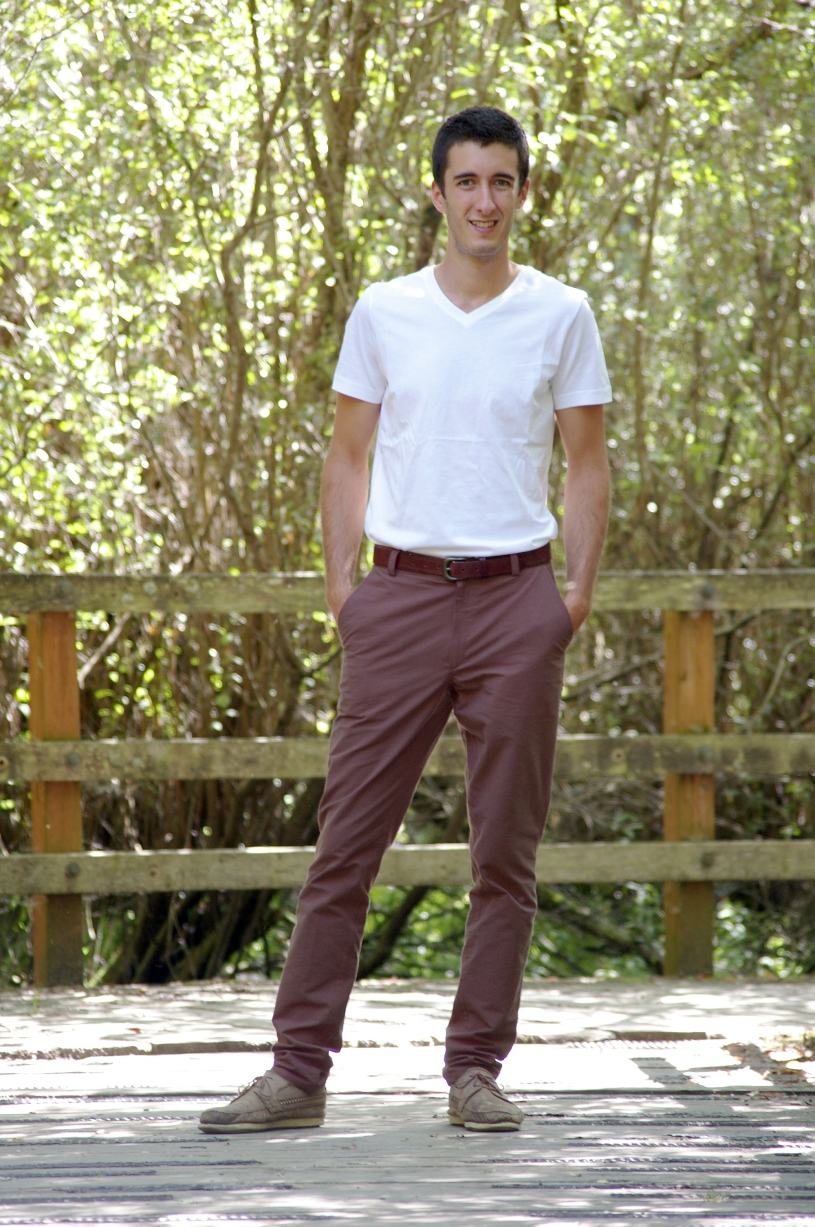 The full length pants version of the Jedediah Pants Sewing Pattern.