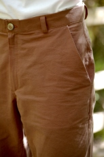"""Top stitched belt loops, a fly that fits a 6"""" zipper and a classic thin waistband"""