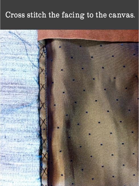 cross stitch facing to canvas
