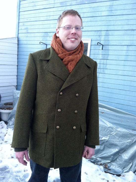 Finished peacoat