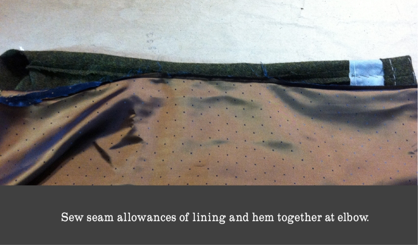 sew elbow seam allowances