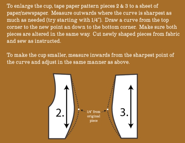 Enlarging the cup
