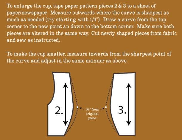 Enlarging the cup