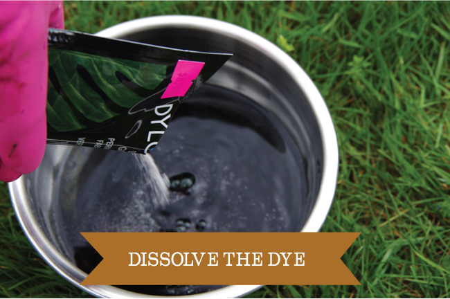 Dyeing - dissolve the dye