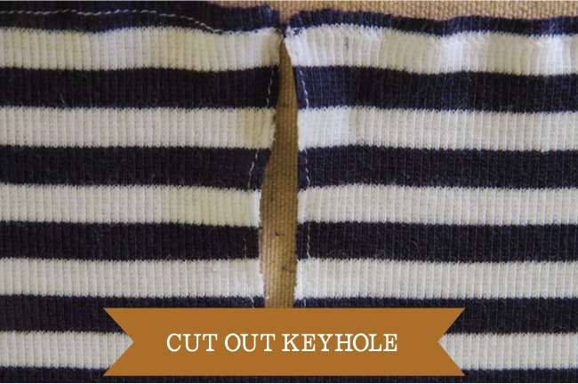 Embellish - cut out keyhole