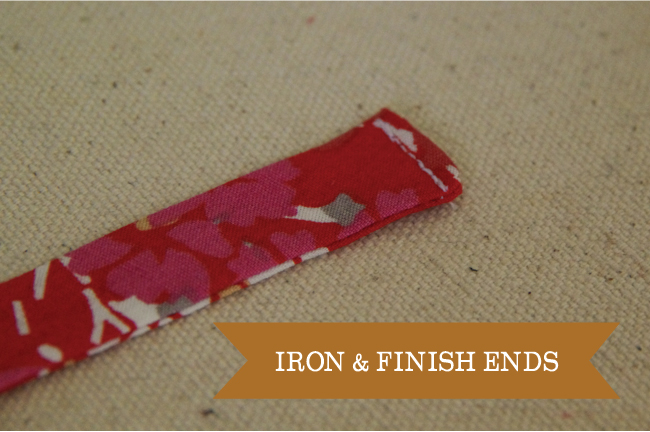 Embellish - iron and finish ends