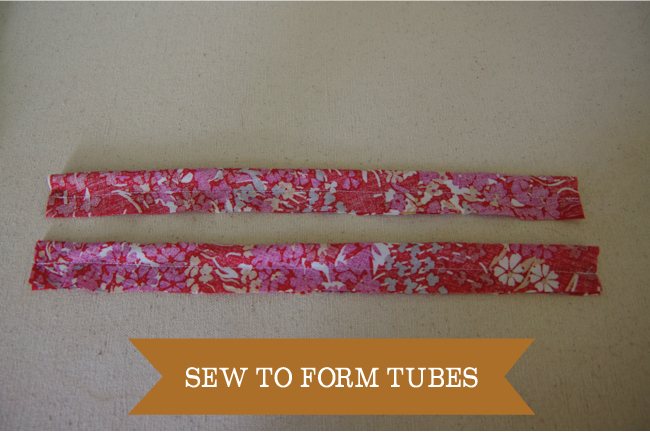 Embellish - sew to form tubes