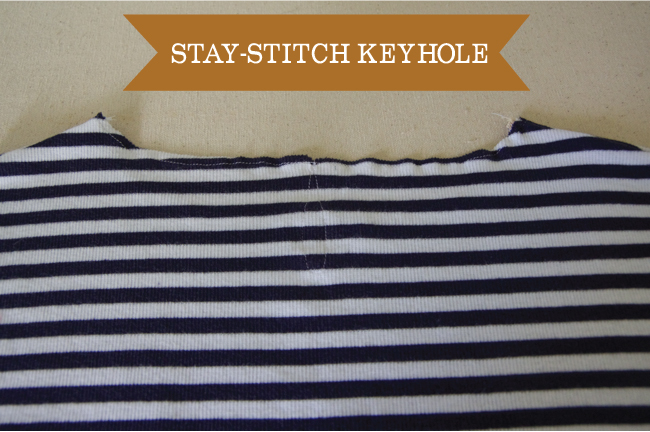 Embellish - staystitch keyhole