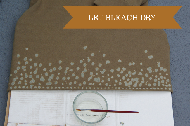 Painting - let bleach dry