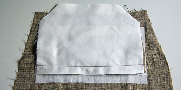 Attach small pocket lining