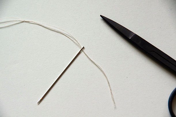 button - double thread needle