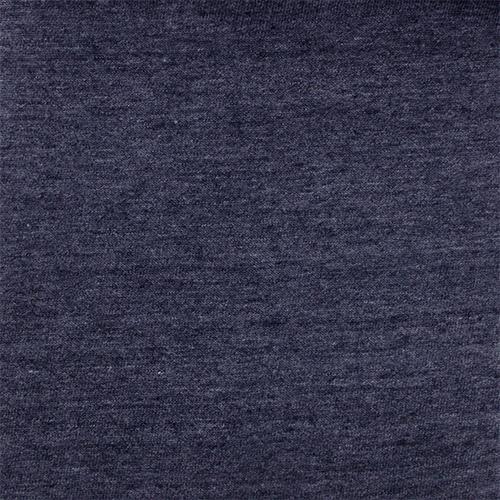 Denim Blue Heather Solid Cotton Jersey Tri Blend