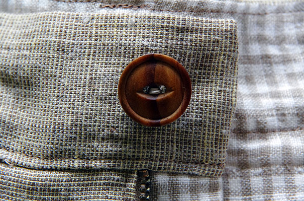 Finished button close up