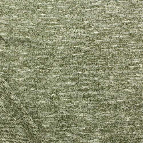 Olive Green White Marble Hacci Sweater Knit
