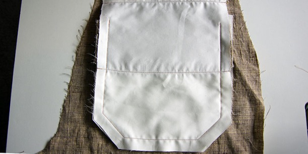 Sew around pocket edge