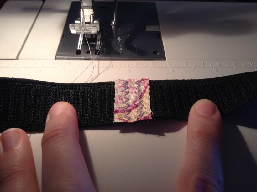 fabric covered waistband