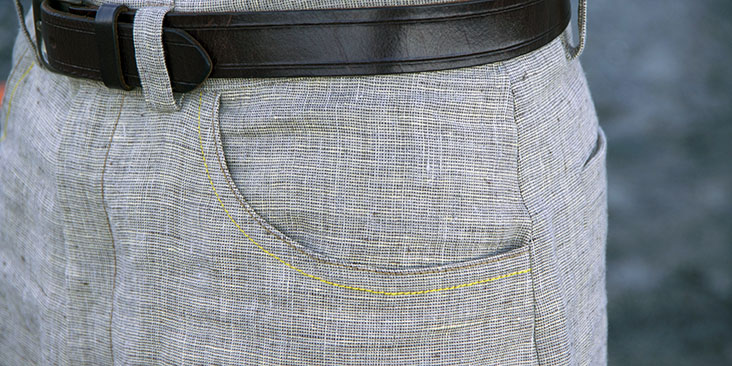 pocket topstitching