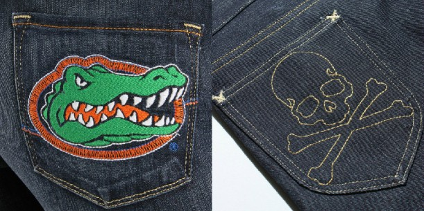 4. Embroidered Shapes