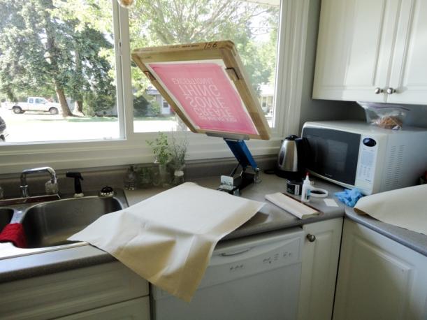Screen printing set up | Thread Theory