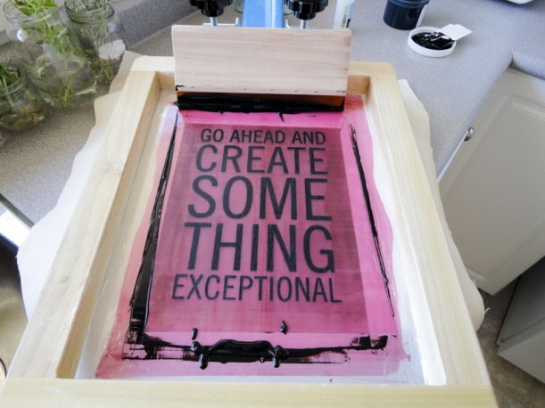 Screen printing for the first time! | Thread Theory