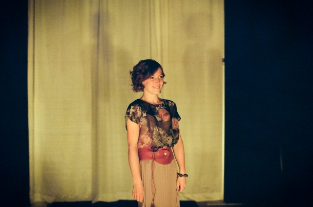 At the end of year school fashion show - can you see the uncertainty of the future looming over me?