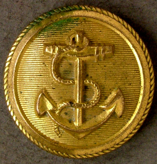 Fouled Anchor Button Navy