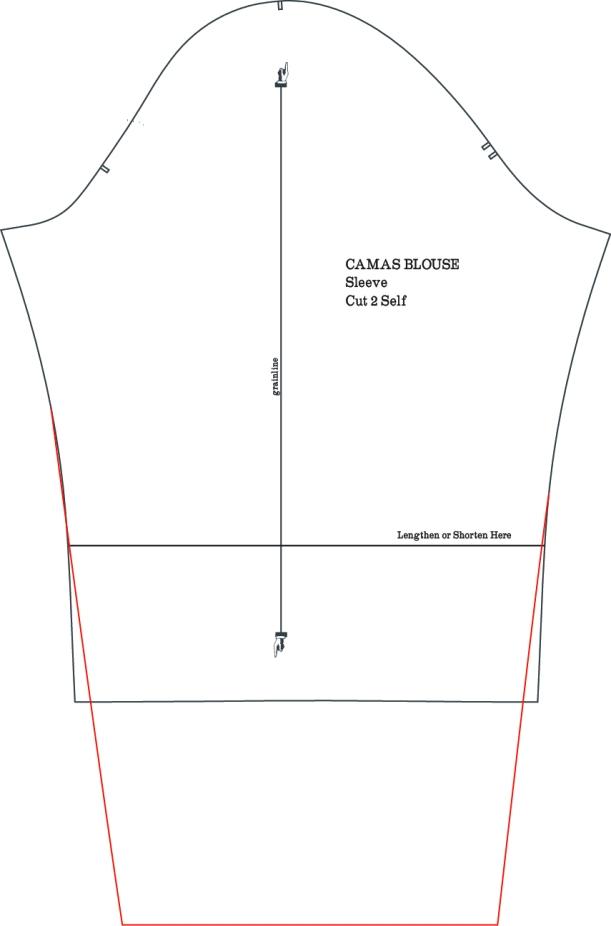 Camas Blouse Full Length Sleeves