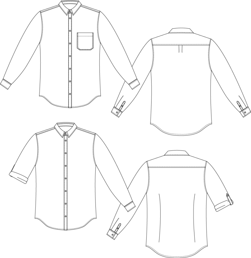 Fairfield Buttonup Illustrations