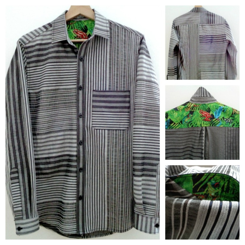 Fairfield Button up with contrast yoke and pocket