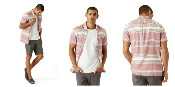 Short sleeve shirt sewing pattern for men
