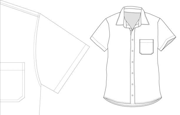Short-sleeve-technical-illustration
