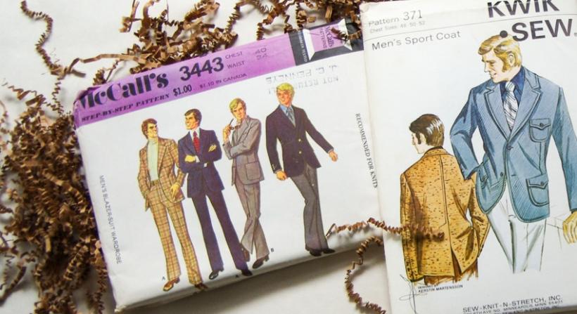 Vintage Menswear Patterns - close up view-1