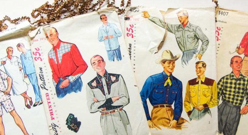 Vintage Menswear Patterns - close up view-3
