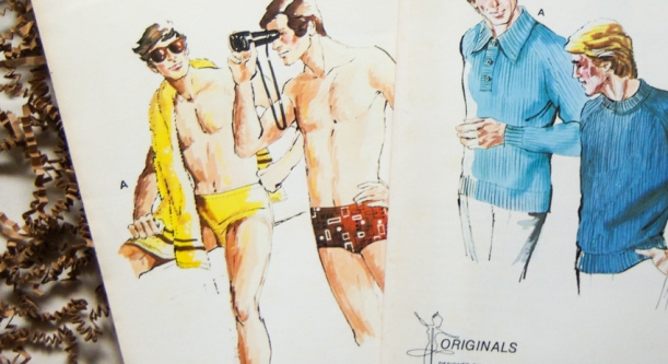 Vintage Menswear Patterns - close up view-7