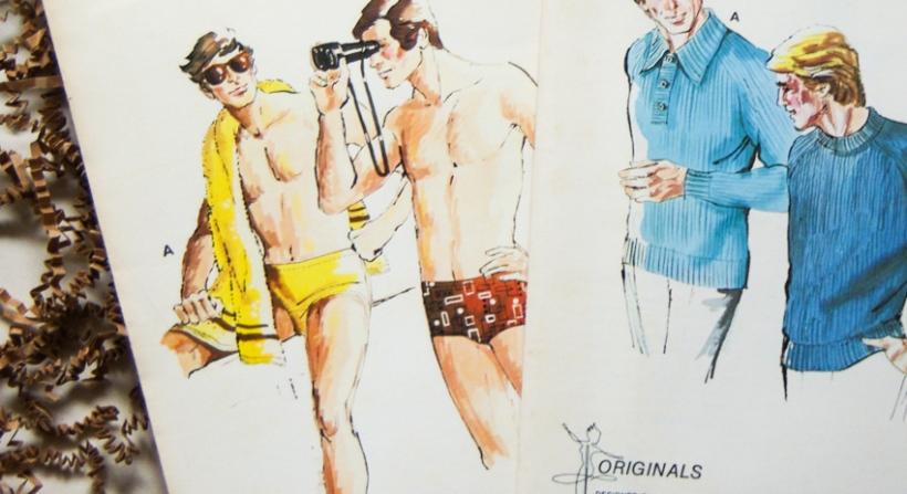 Vintage Menswear Patterns - close up view-7