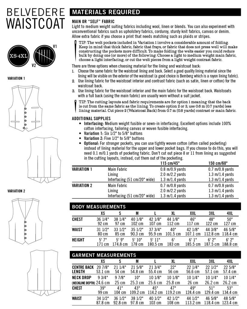 Pattern-info-Belvedere Waistcoat
