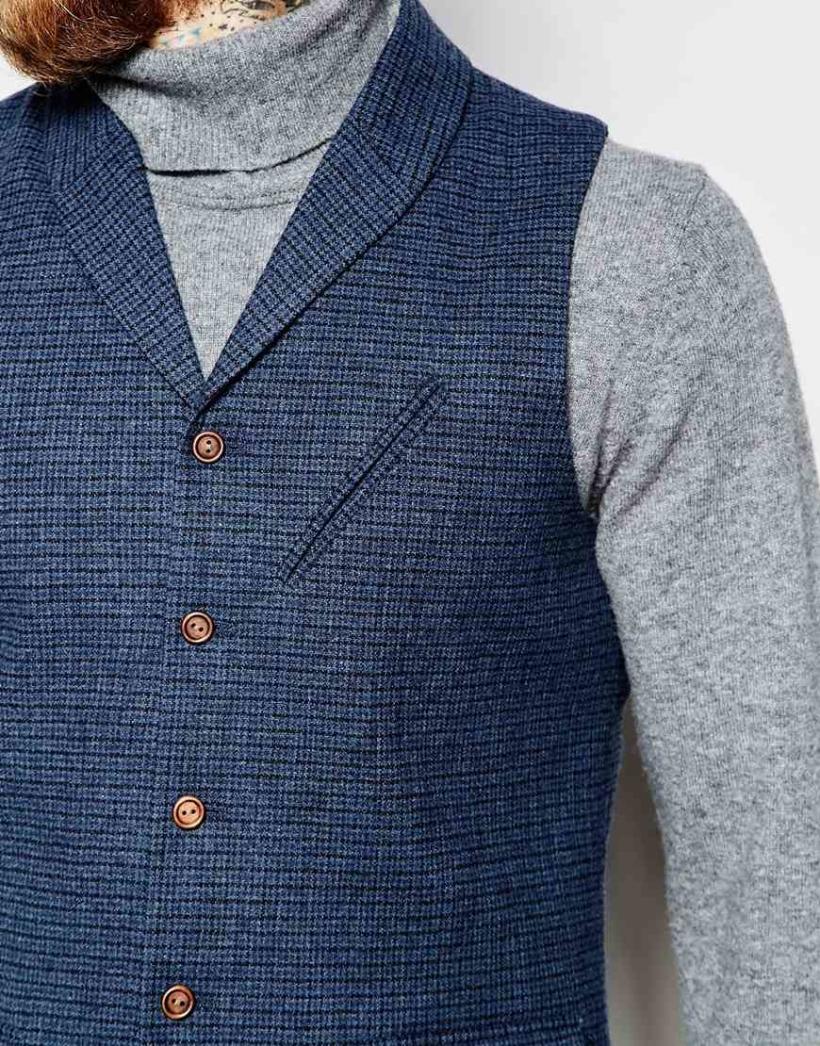 Shawl collar waistcoat 2