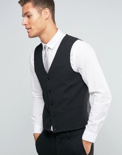 Straight hem waistcoat