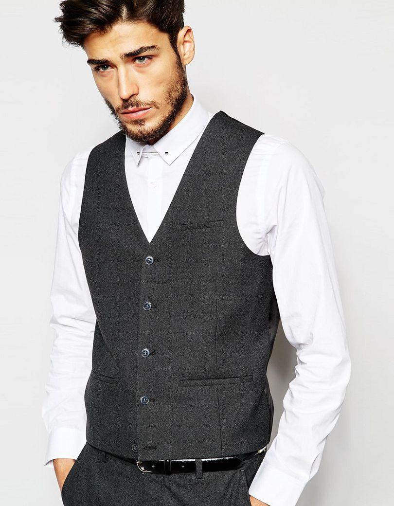 waistcoat with straight hem