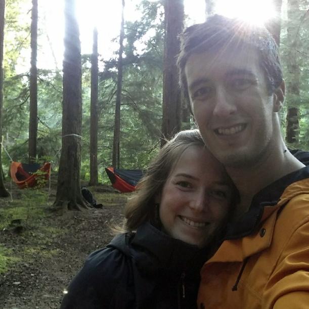 Matt and Morgan camping