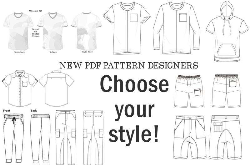 New PDF pattern companies - Technical Illustrations