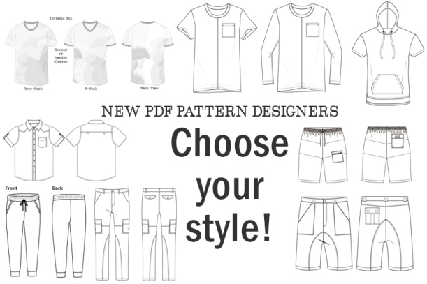 New PDF pattern companies - Technical Illustrations
