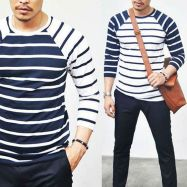 Striped raglan
