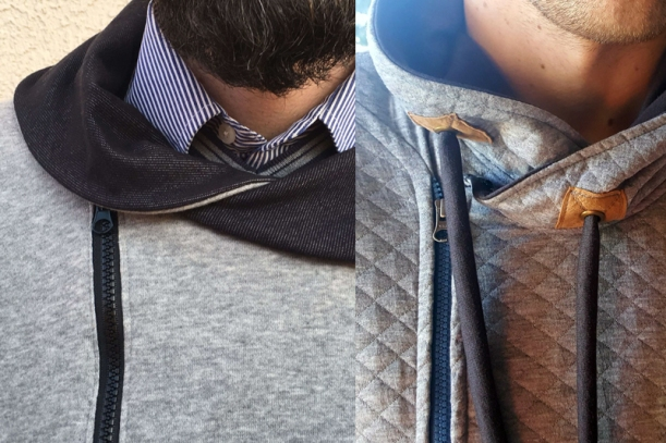 Father's Day sewing project sweater collars
